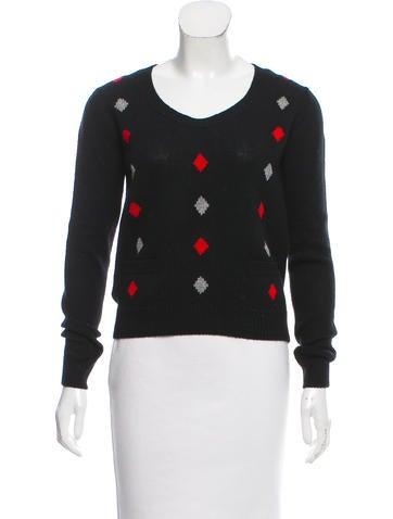 Prada Intarsia Cashmere Sweater None