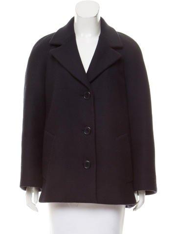 Prada Woven Wool Coat None