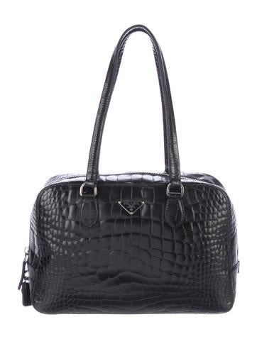 555954503a Prada Crocodile Bauletto Bag Handbags Pra169873 The Realreal