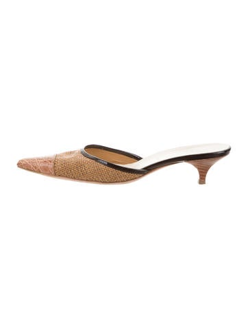 Prada Woven Pointed-Toe Mules None