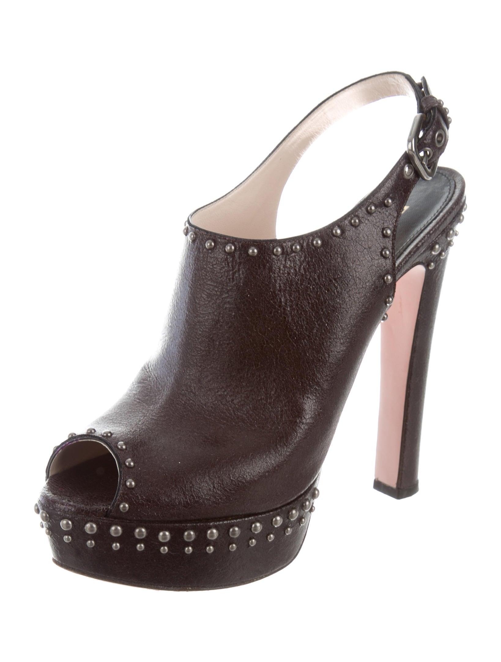 Prada Studded Platform Sandals - Shoes - PRA170286 | The