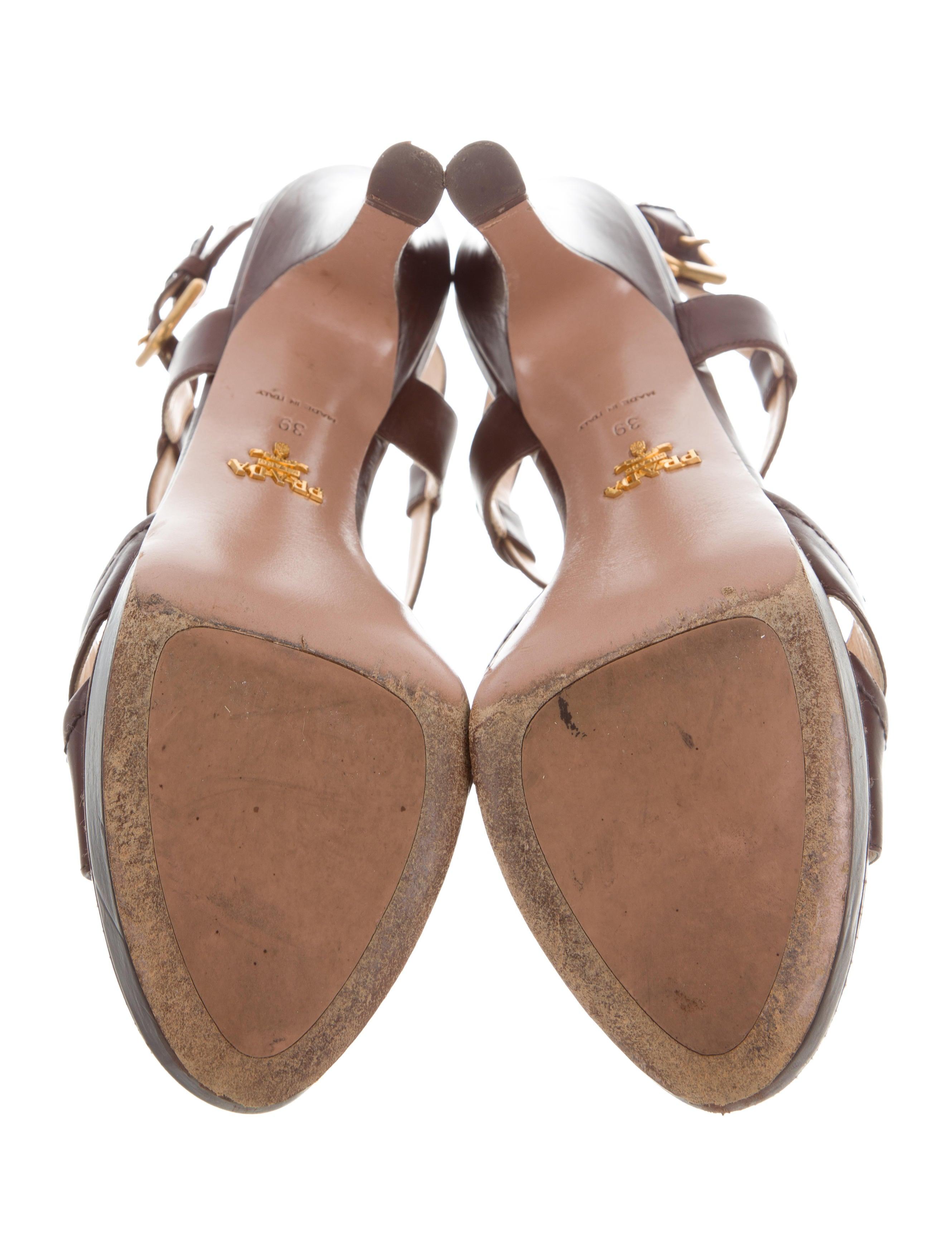 prada t platform sandals shoes pra170380 the