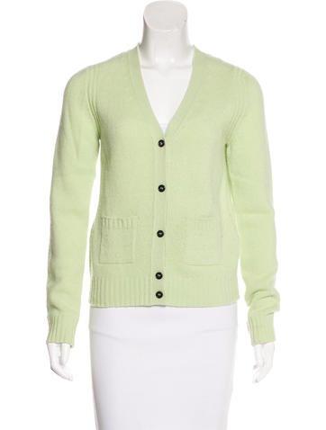 Prada Long Sleeve Wool Cardigan None