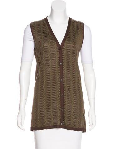 Prada Silk-Blend Vest None