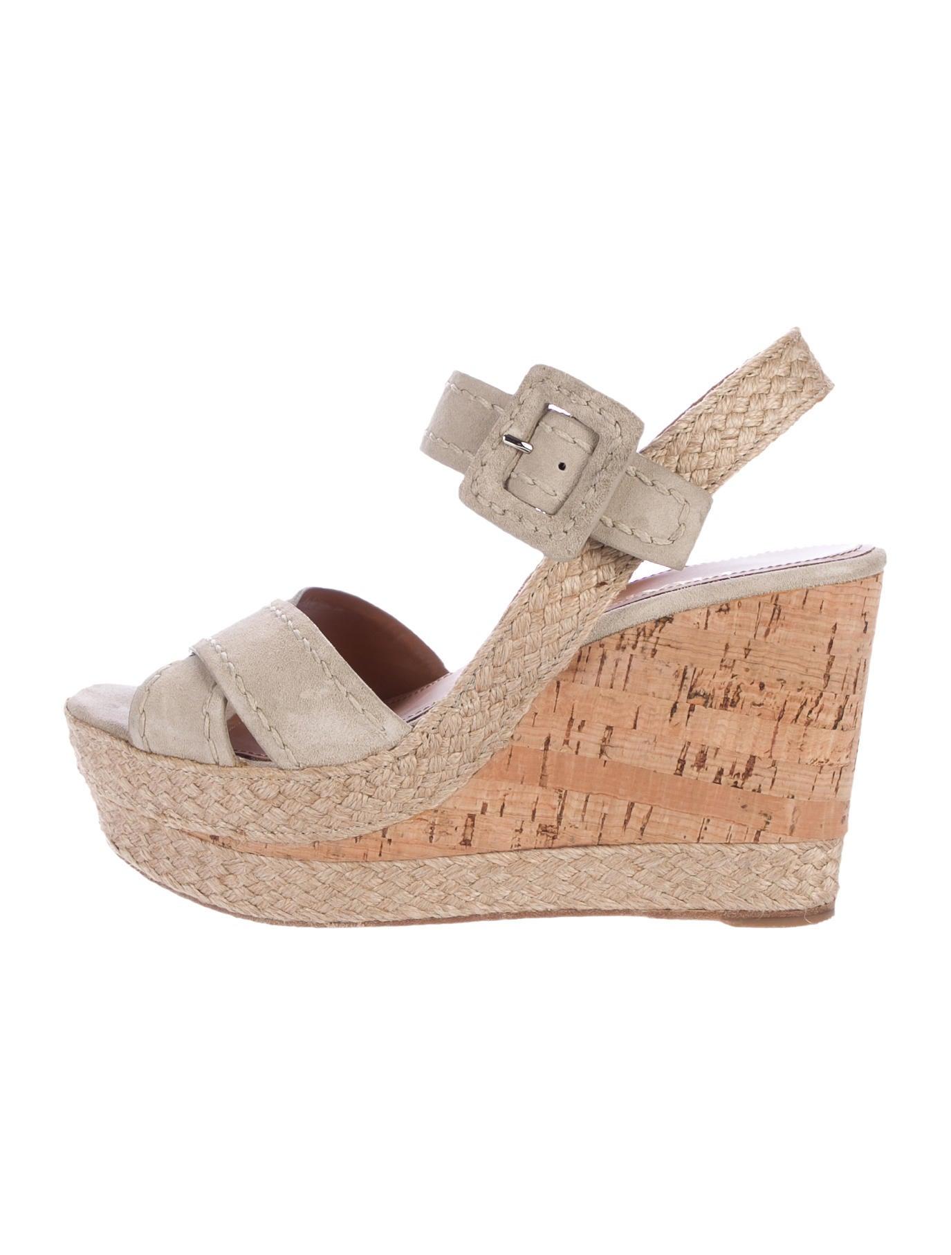 prada suede cork wedge sandals shoes pra170550 the
