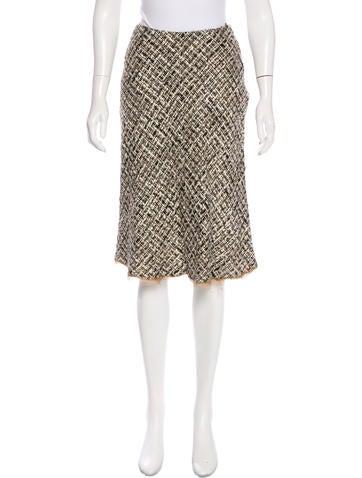 Prada Knee-Length Knit Skirt None