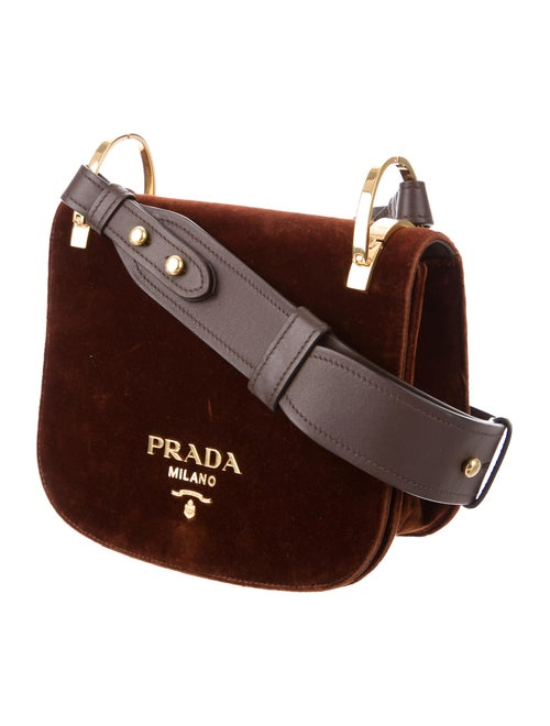 00562ef16553 Prada Pionnière Velvet Saddle Bag - Handbags - PRA171125   The RealReal