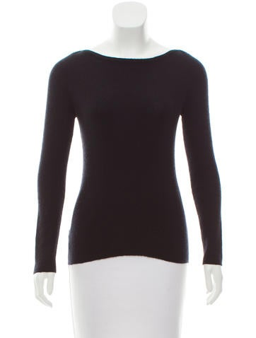 Prada Rib Knit Bateau Neck Sweater None