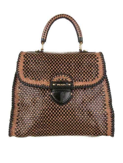 87c378ef0c5c Prada Madras Woven Bag - Handbags - PRA17183