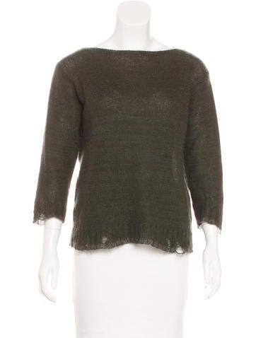 Prada Distressed Knit Sweater None
