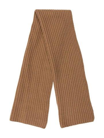 Prada Wool Rib Knit Scarf None
