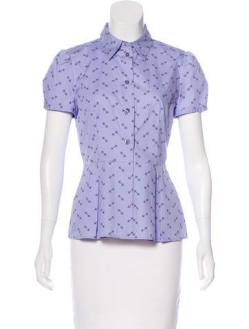 Prada Printed Short Sleeve Top None