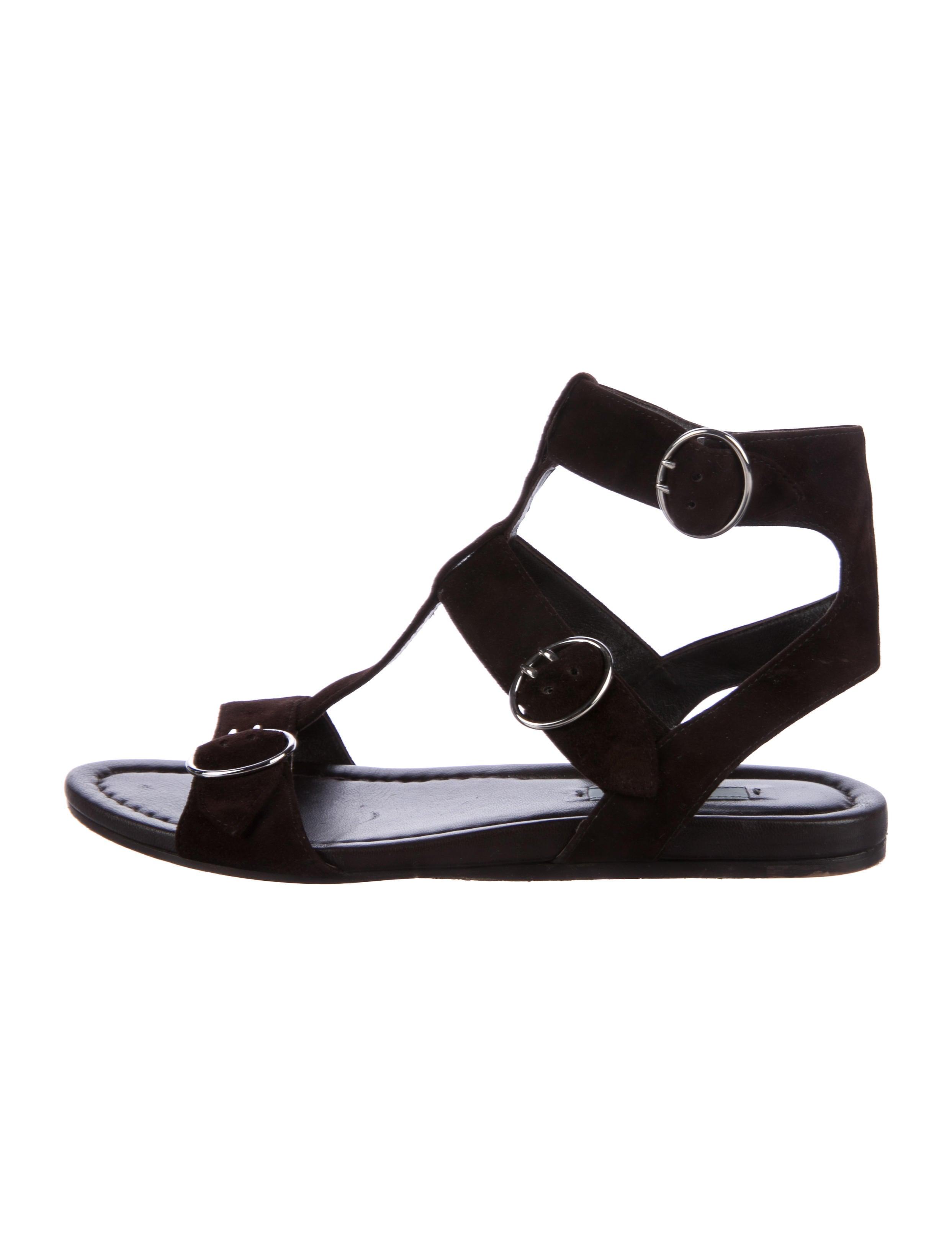 86e932ce7ee Prada Suede Multistrap Sandals - Shoes - PRA173042