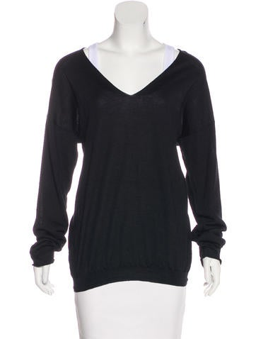 Prada Wool Long Sleeve Top None