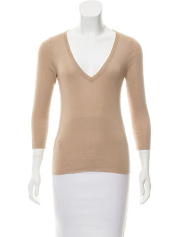 Prada Cashmere and Silk Knit Top None