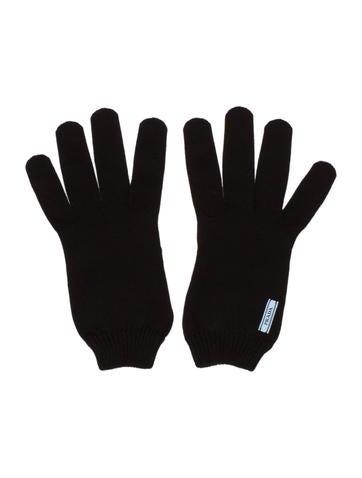 Prada Rib Knit Lightweight Gloves None