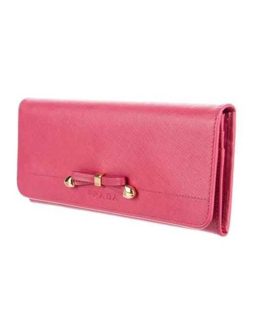 6001972addcf97 Prada Saffiano Lux Bow Wallet - Accessories - PRA174476 | The RealReal