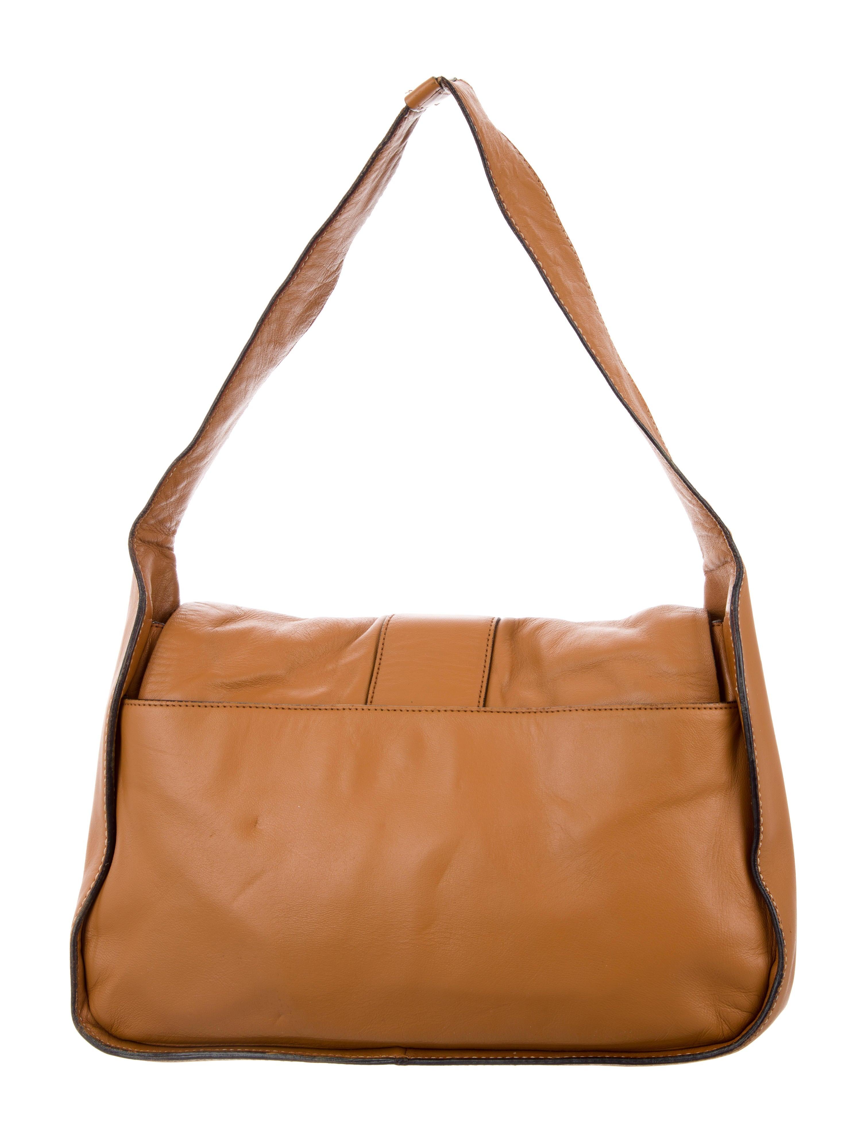 b9d66c512788 Prada Leather Buckle Shoulder Bag - Handbags - PRA174616 | The RealReal