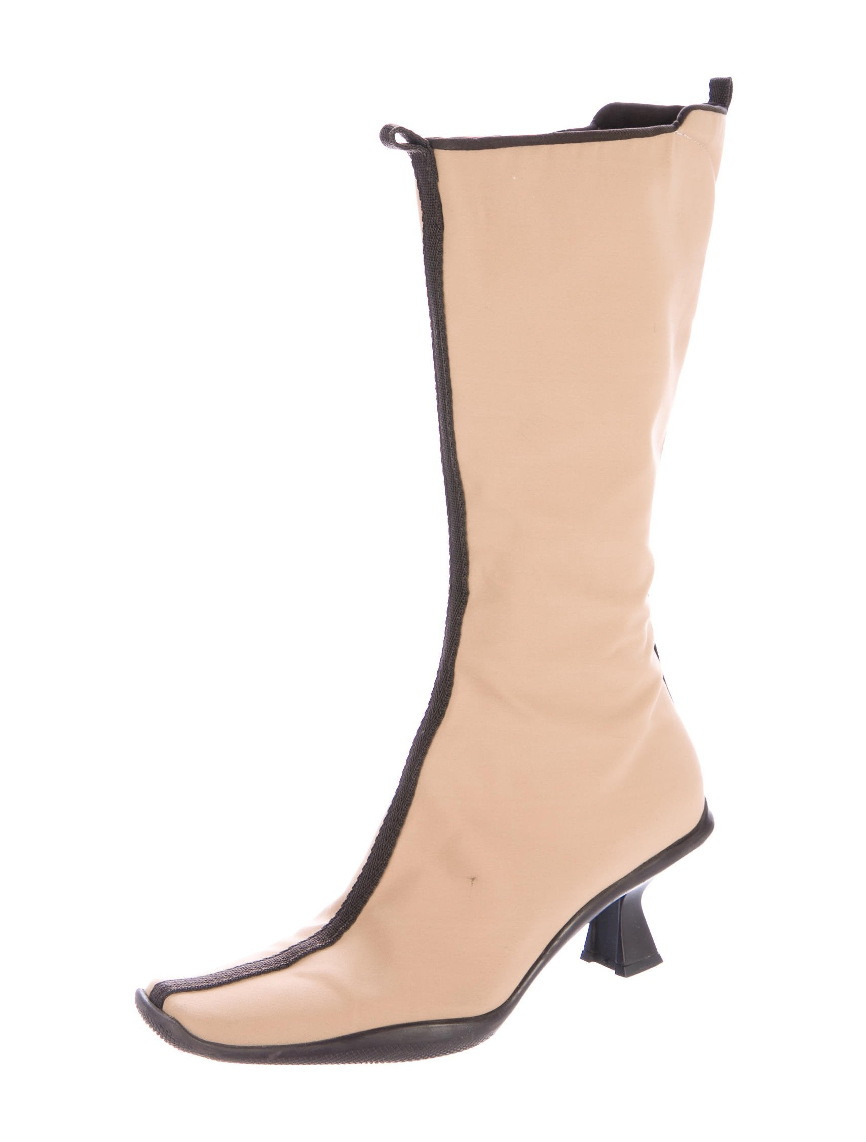 Prada Canvas Mid-Calf Boots latest collections outlet best store to get eastbay for sale xSYu1C8e