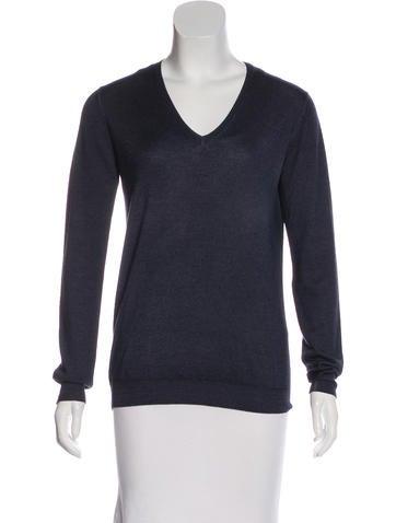 Prada Silk & Wool-Blend Sweater None