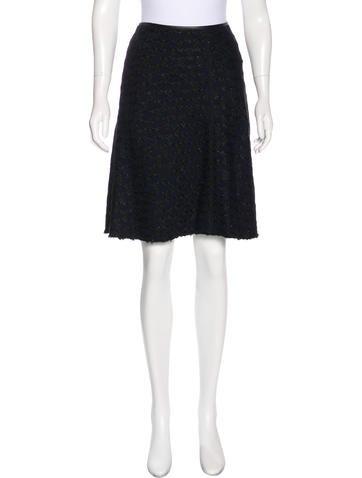 Prada Patterned Knee-Length Skirt w/ Tags None