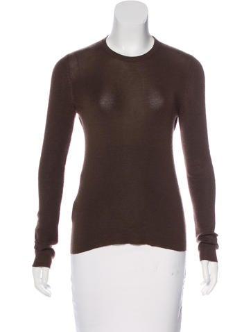 Prada Cashmere & Silk-Blend Rib Knit Sweater None