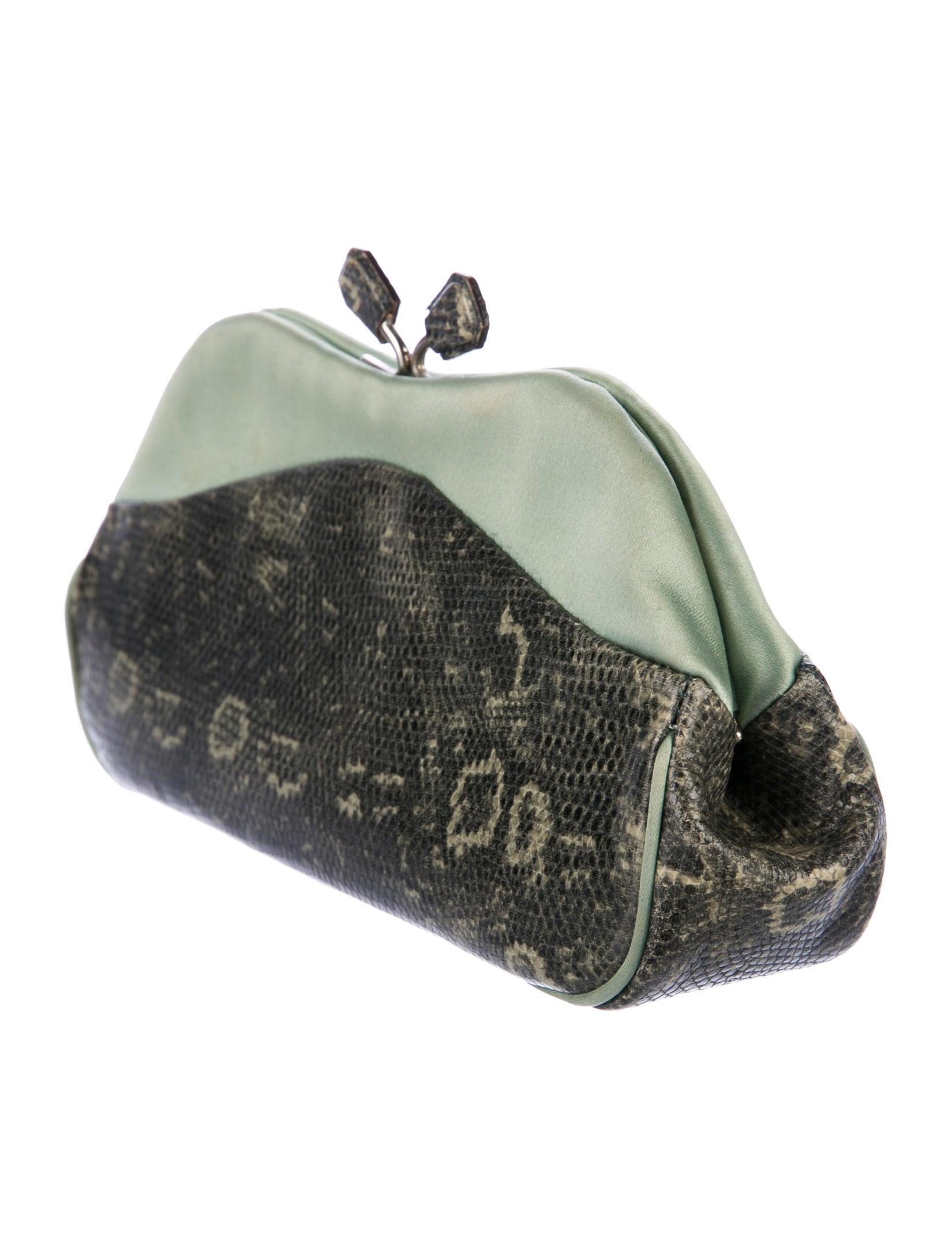 Prada Lizard Kiss-Lock Clutch - Handbags - PRA175793 | The ...