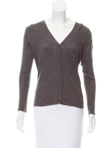 Prada V-Neck Rib Knit Cardigan None