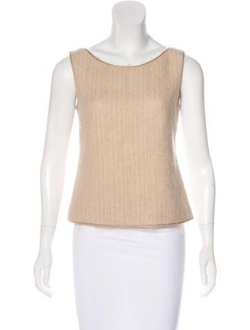Prada Wool & Mohair Sleeveless Top None