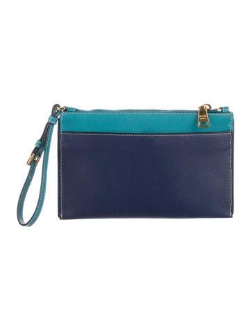 042264858113 Prada Bicolor Saffiano Wristlet - Handbags - PRA176113 | The RealReal