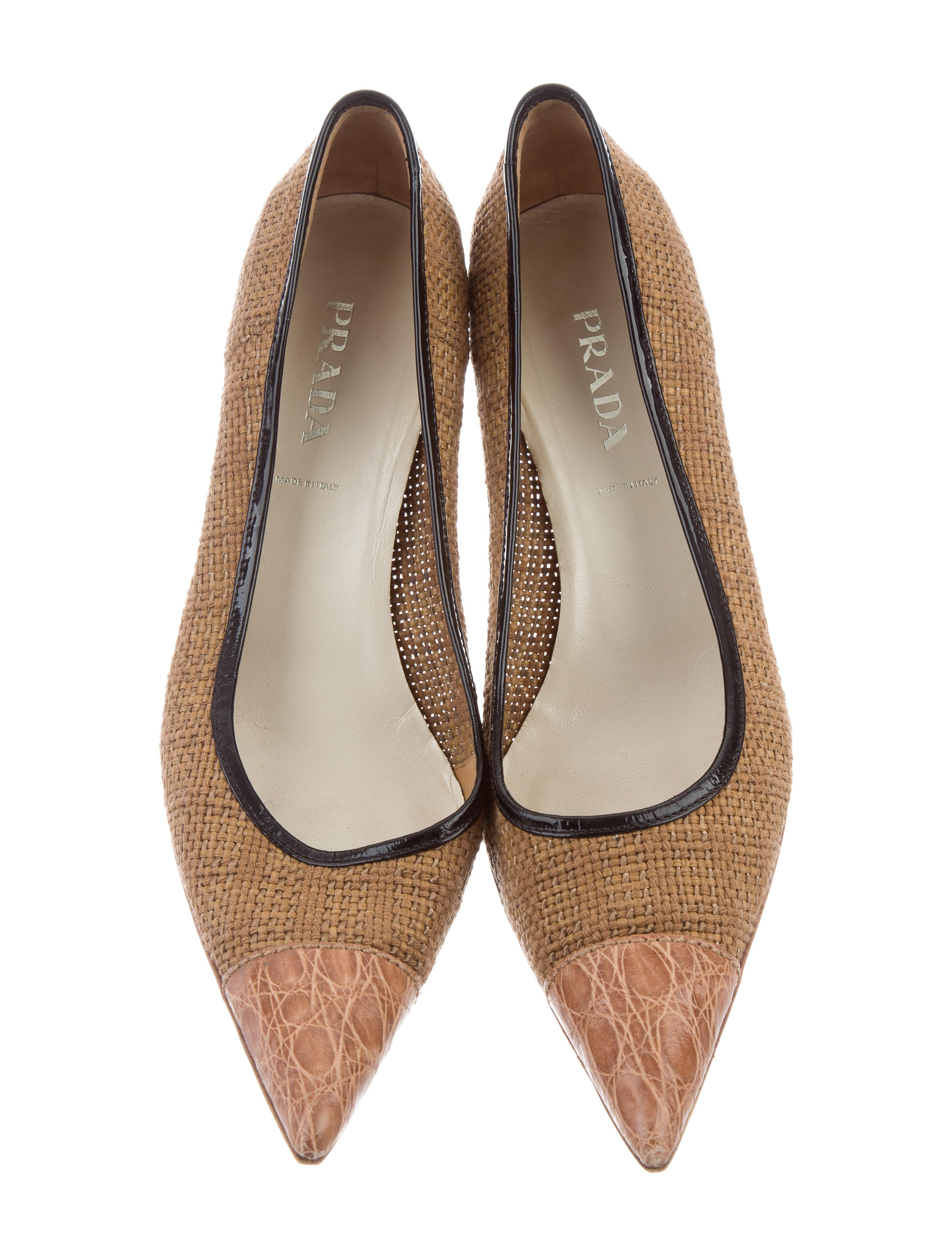 buy cheap wholesale price Prada Woven Pointed-Toe Pumps cheap cost for cheap price discount classic oCy5XVkFPQ