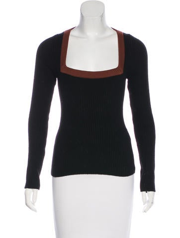 Prada Long Sleeve Knit Sweater None