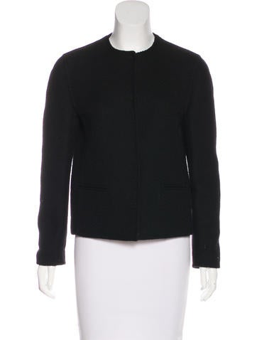Prada Collarless Wool Jacket None