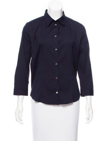 Prada Woven Button-Up Top None