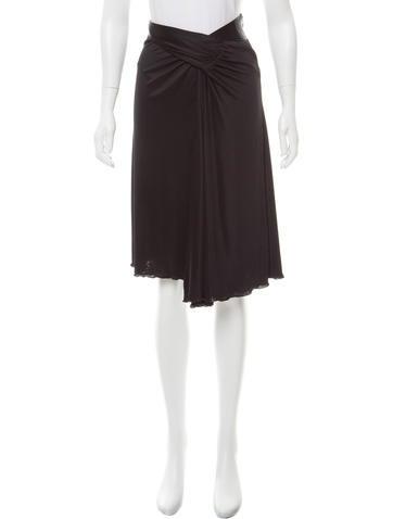 Prada Knee-Length Draped Skirt None
