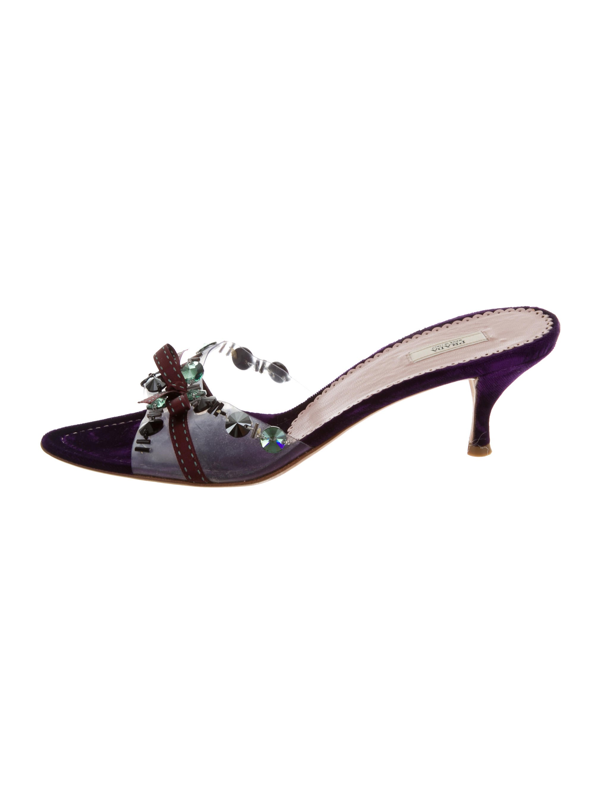 Prada Embellished PVC Sandals get to buy cheap online discount eastbay SvhZ1