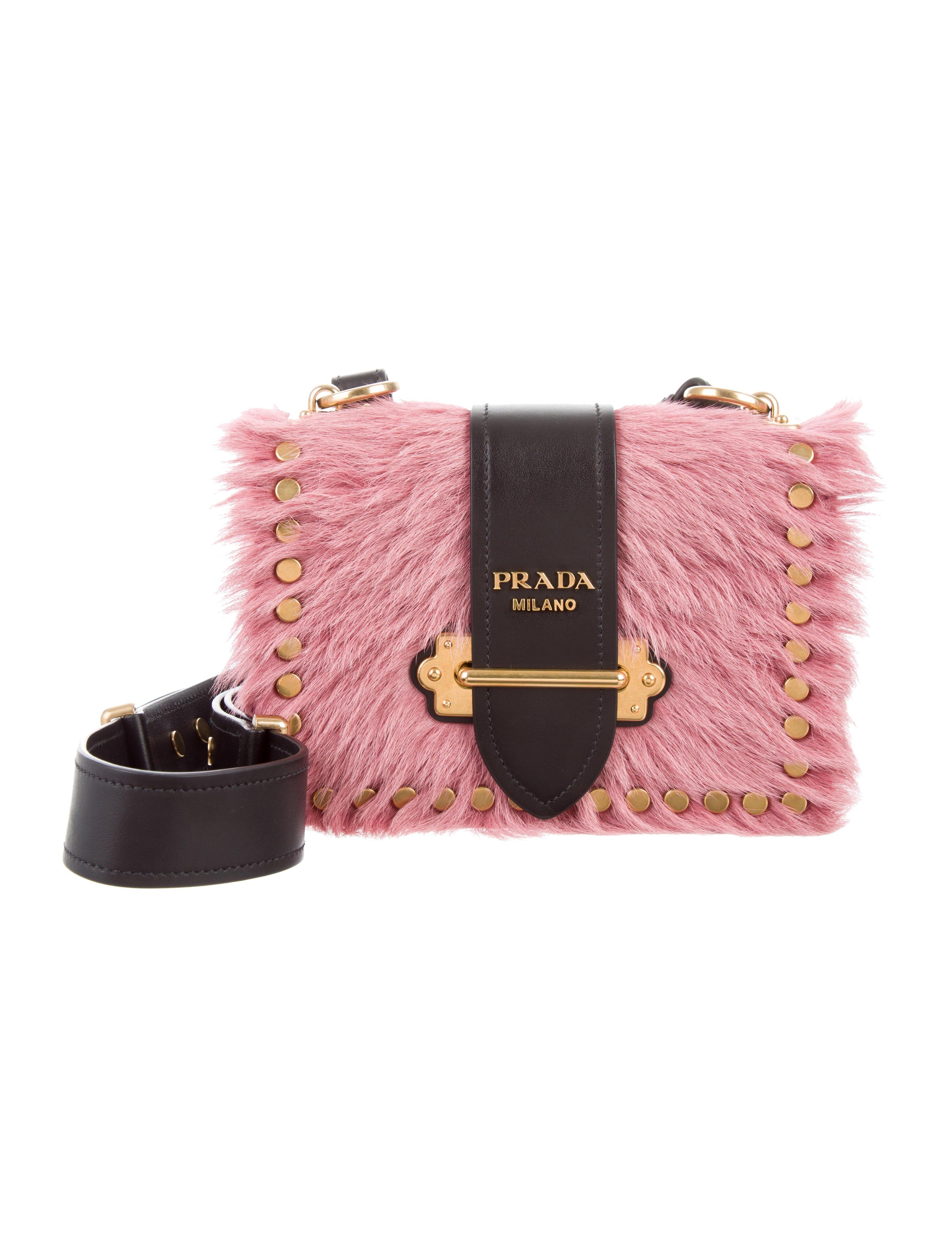 065b71a37222 ... shop prada calf hair cahier bag handbags pra178103 the realreal cbc52  c358d