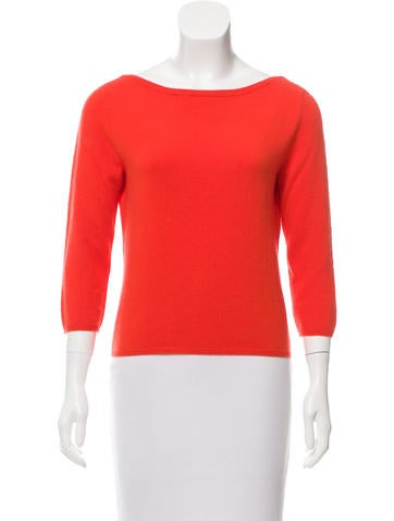 Prada Cashmere Three-Quarter Sleeve Top None