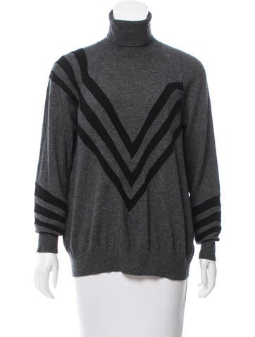 Prada Stripe-Accented Turtleneck Sweater None