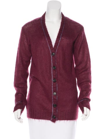 Prada Knit Button-Up Cardigan None