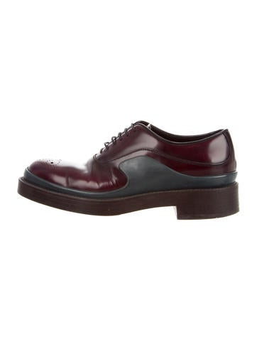 quality from china cheap top quality sale online Prada Leather Round-Toe Oxfords 6Zm0p