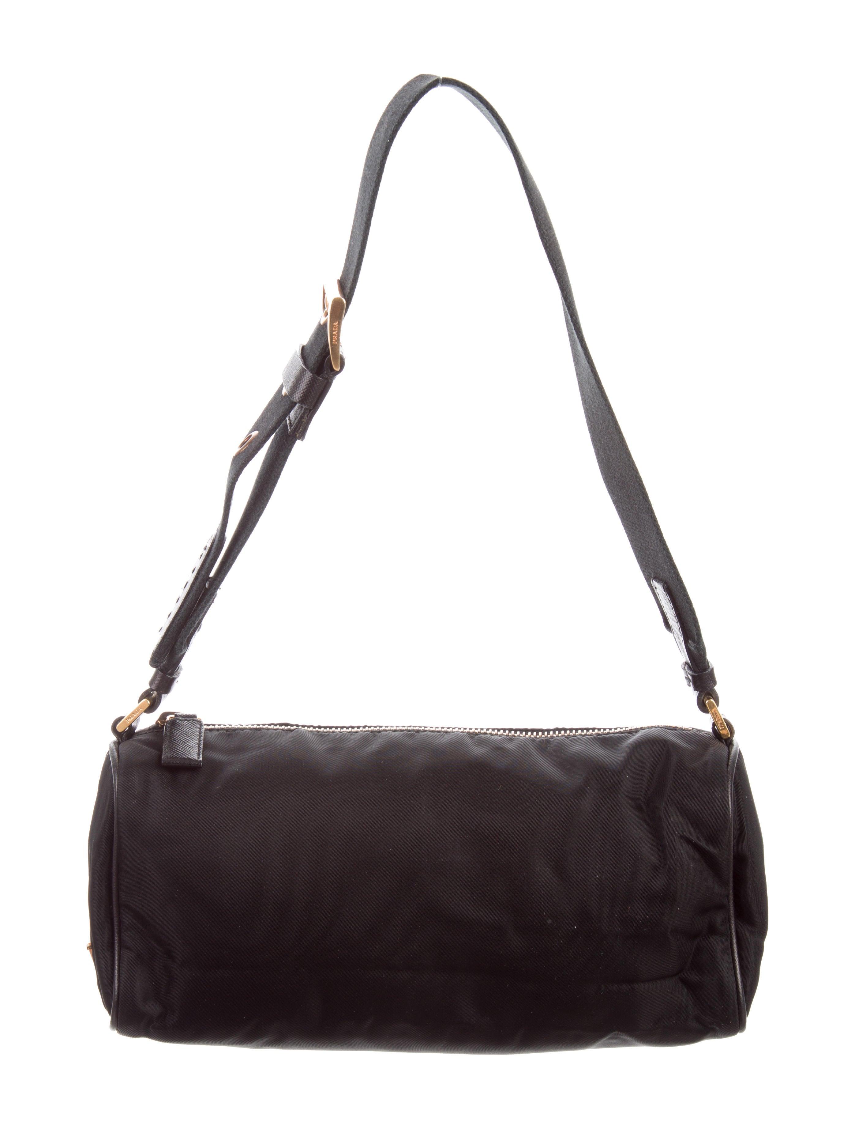 be80e16ff044d9 ... coupon code for prada leather trimmed tessuto bag 70641 5efe0