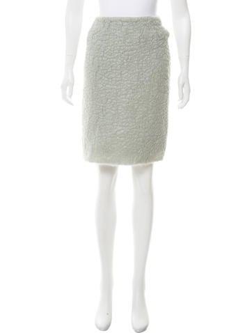 Prada Coated Mohair Skirt None