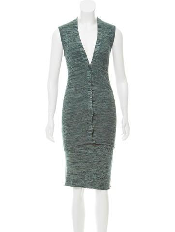 Prada Knit Knee-Length Skirt Set None