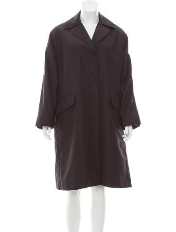 Prada Notch-Lapel Long Coat None