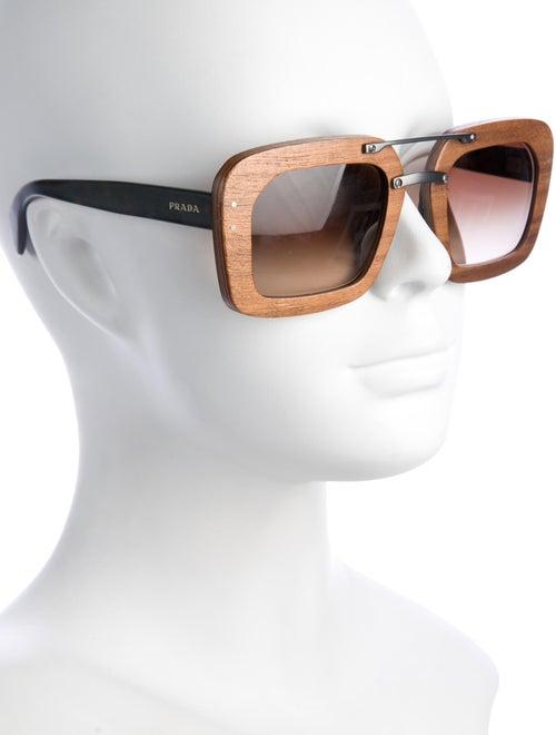 Prada Square Wooden Sunglasses Accessories Pra180008 The Realreal