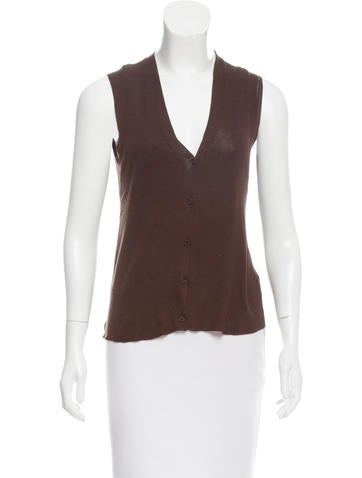Prada V-Neck Cardigan Vest None