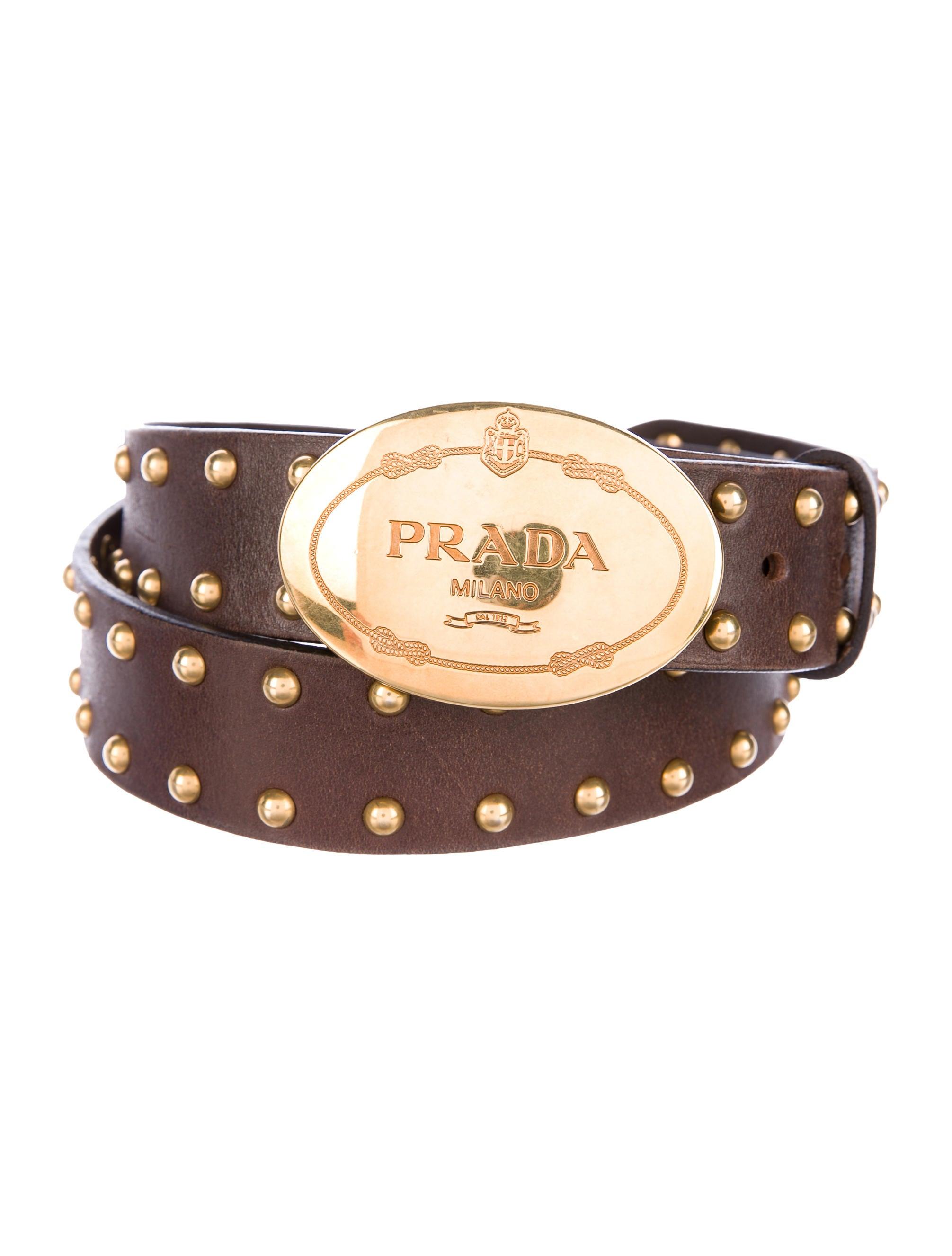 25a81862f2b123 Prada Leather Embellished Belt - Accessories - PRA180258 | The RealReal
