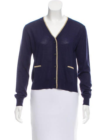 Prada Lurex-Accented Wool Cardigan w/ Tags None