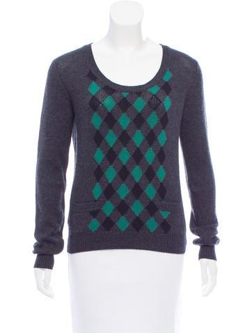 Prada Argyle Cashmere Sweater w/ Tags None